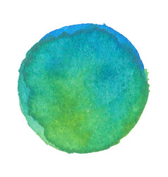 watercolor stain earth blue and green vector image
