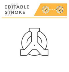 wheel clamp editable stroke line icon vector image