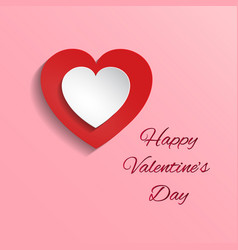 whit and red hearts on pink vector image