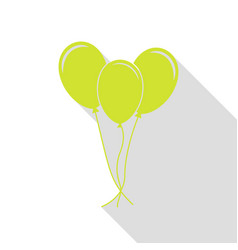 balloons set sign pear icon with flat style vector image vector image