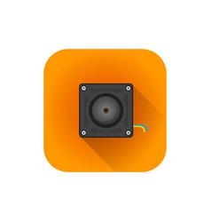 Flat hidden surveillance camera vector