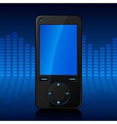 portable media player vector image