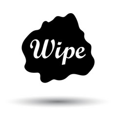 Wipe cloth icon vector