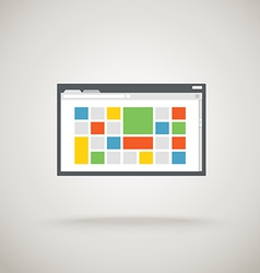 Browser window with color tile vector image vector image