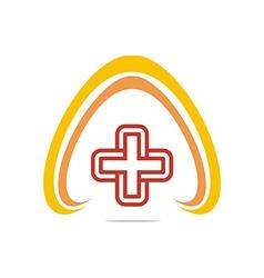 Logo Red Medical icon design vector image
