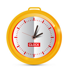 paper golden clock vector image