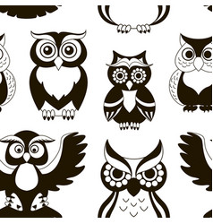 pattern of owls vector image vector image