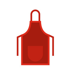 Red apron icon flat style vector