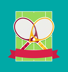 tennis rackets and cord flat vector image