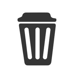 trash can delete icon vector image