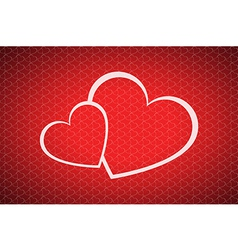 Valentines day background with two hearts vector image vector image