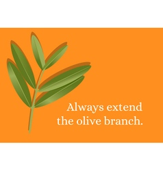 Branch Olive Quote vector image vector image