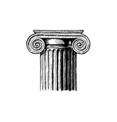 capital classical order vector image