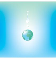 globe drop vector image