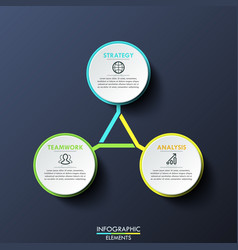 infographic design template circular diagram with vector image