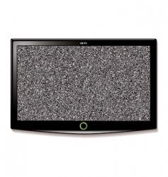 Lcd tv wall hang static vector