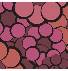 red circles abstract vector image vector image