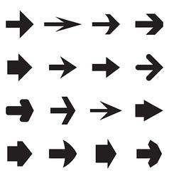 Right arrows vector image