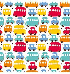 seamless pattern car vector image vector image