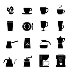 set of coffee icons vector image vector image