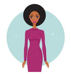 stylish young african american woman wearing vector image