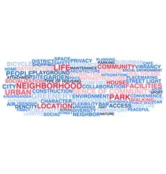 Urban neigborhood life vector image