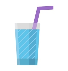 Water glass cup vector image