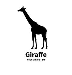 A silhouette of a giraffe vector