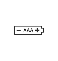 Aaa battery icon stock isolated on white vector
