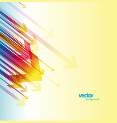 abstract colorful arrows background wallpaper vector image