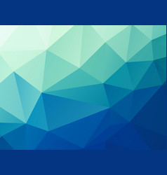 abstract green blue pastel low poly background vector image
