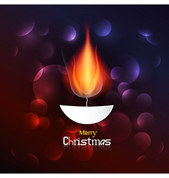 Abstract Merry Christmas Background vector image