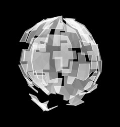 abstract polygonal cyber sphere vector image