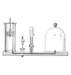 Air pump vintage vector