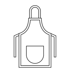 Apron icon outline style vector image