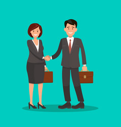 background business cooperation handshake t vector image vector image