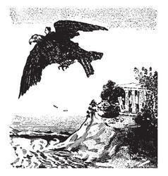 baron munchausen vintage vector image
