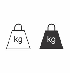 Black and white weights vector