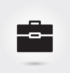 Briefcase icons glyph icon for any purposes vector
