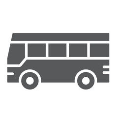 bus glyph icon traffic and public vehicle sign vector image