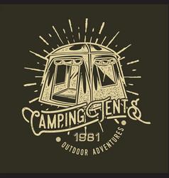 Camping vintage tent adventure outdoor logo 33 vector