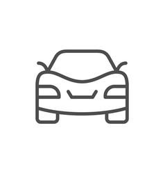car line icon and auto concept vector image