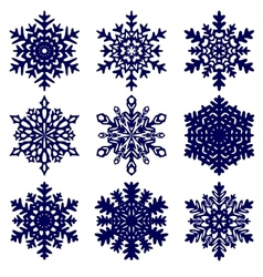 Christmas background Snowflakes vector