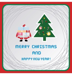 Christmas greeting card50 vector image