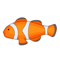 clown fish icon cartoon style vector image