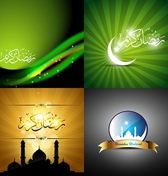 Collection of eid festival background vector