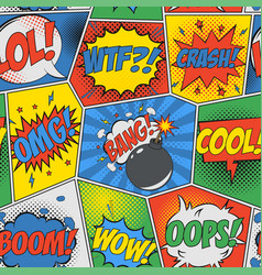 comic seamless background vector image