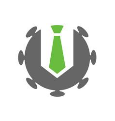 Covid businessman logo design business suit vector