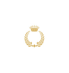 crown king vintage logo vector image