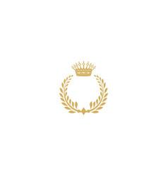 Crown king vintage logo vector
